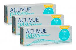 Acuvue Oasys 1-Day with HydraLuxe for Astigmatism, 90er Pack