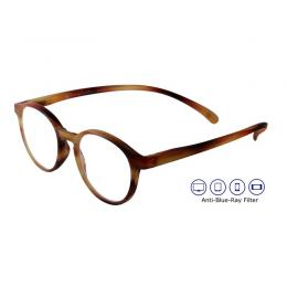 Anti-Blue-Ray KLAMMERAFFE Lesebrille in Horn-Optik
